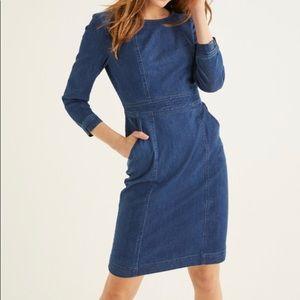 NWT Boden Coraline Denim Dress, size US 10R
